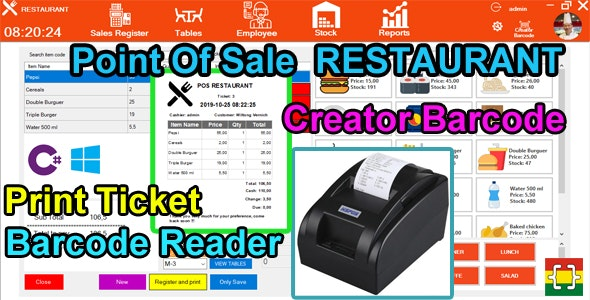 Point Of Sale (POS) Restaurant - C# MySQL - CodeCanyon Item for Sale