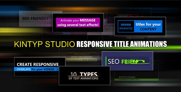 Kintyp Studio | Responsive Title Animations and Lower Thirds