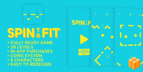 Spin To Fit - BUILDBOX - Fun Arcade Game Template + easy to reskine + AdMob