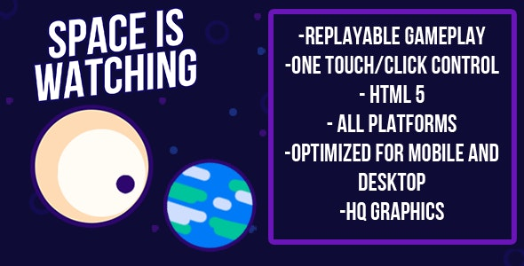 Space is Watching | HTML5 Game (capx) - CodeCanyon Item for Sale