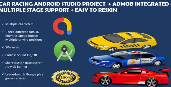 Car Racing Android  Studio Game + Admob + Endless Game + Ready To Publish + No Coding Skill Require - CodeCanyon Item for Sale