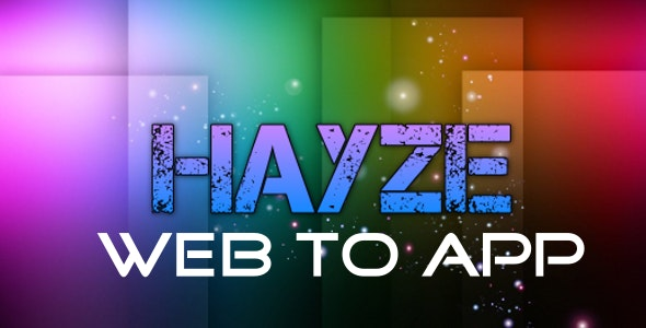 Hayze Web-to-App - CodeCanyon Item for Sale