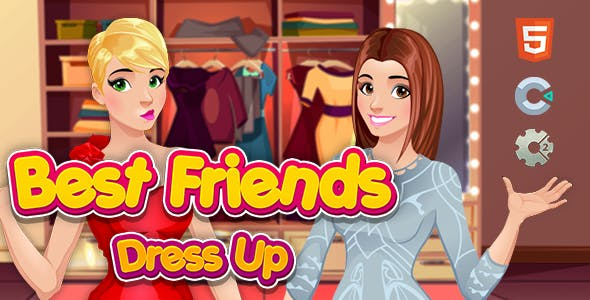 Best Friends - Dress Up - HTML5