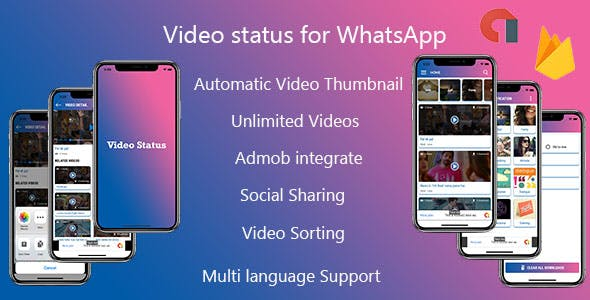 Multiple Language Video Status - Android App with Admin Panel