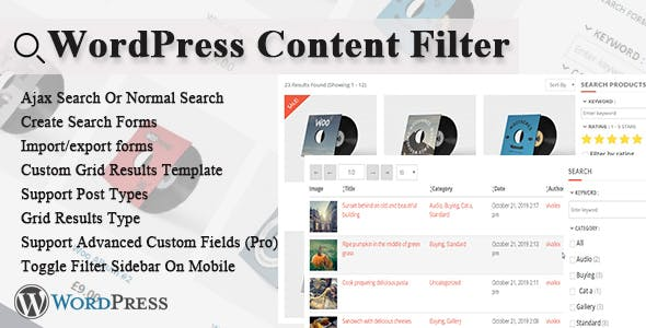 WordPress Content Filter