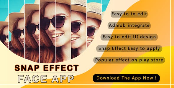 Crazy Snap face effect android app source code