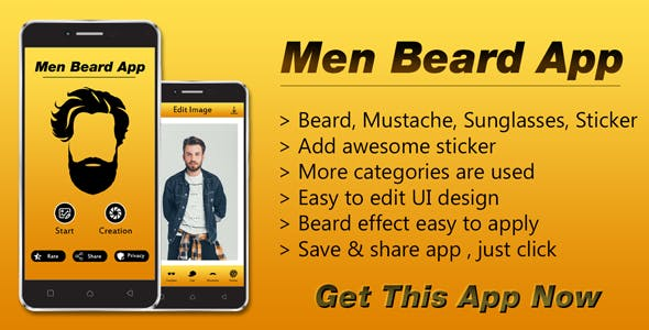 Beardoo..!! Men Beard Photo Editor App