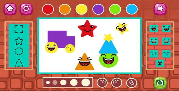 Cute Shapes | Html5 Kids Game | android & ios