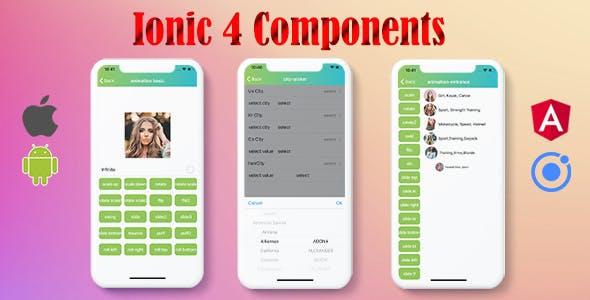 Ionic 4 Components Full Application