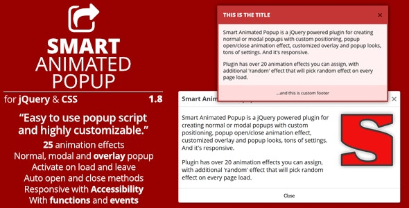 Smart Animated Popup - jQuery Popups Plugin - CodeCanyon Item for Sale