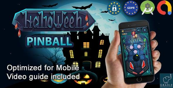 Halloween Pinball (Admob + GDPR + Android Studio) - CodeCanyon Item for Sale