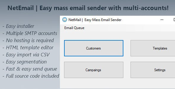 NetEmail - Easy Mass Email Sender With Multiple Accounts