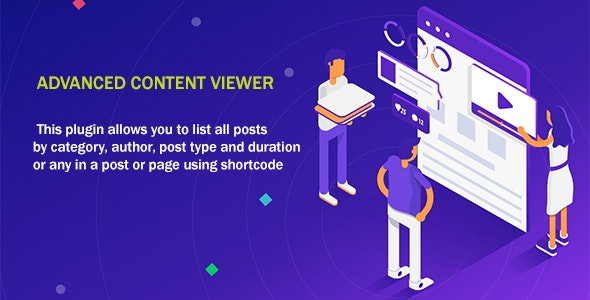 Advanced Content Viewer Plugin - CodeCanyon Item for Sale