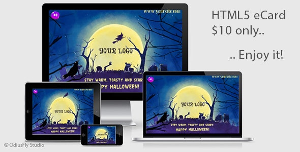 Halloween Card v4 - CodeCanyon Item for Sale