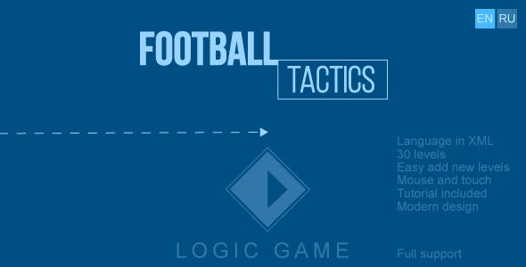 Football tactics - HTML5 game, construct 2/3, mobile control, mouse, AdSense, responsive, 2 language