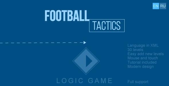 Football tactics - HTML5 game, construct 2/3, mobile control, mouse, AdSense, responsive, 2 language