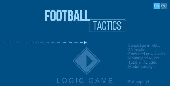 Football tactics - HTML5 game, construct 2/3, mobile control, mouse, AdSense, responsive, 2 language - CodeCanyon Item for Sale
