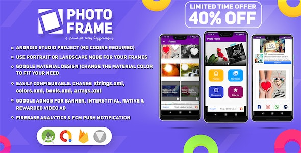 New Year 2020 Edition Photo Frames Picture Editor ~ Android Studio Project, AdMob, Material, Push - CodeCanyon Item for Sale