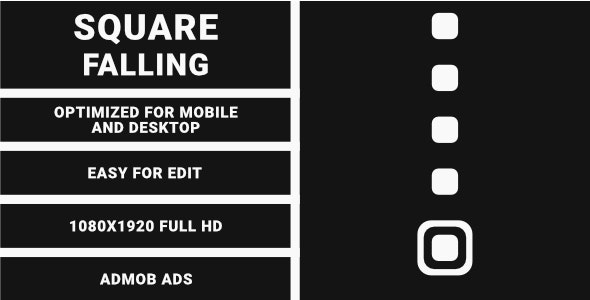 Square Falling (HTML5 Game + Construct 3) - CodeCanyon Item for Sale