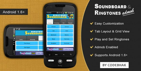 Soundboard and Ringtones with AdMob