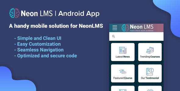 NeonLMS Script Android App - CodeCanyon Item for Sale
