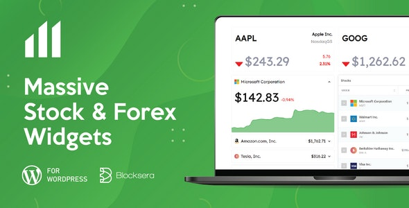 Massive Stock Market & Forex Widgets - CodeCanyon Item for Sale