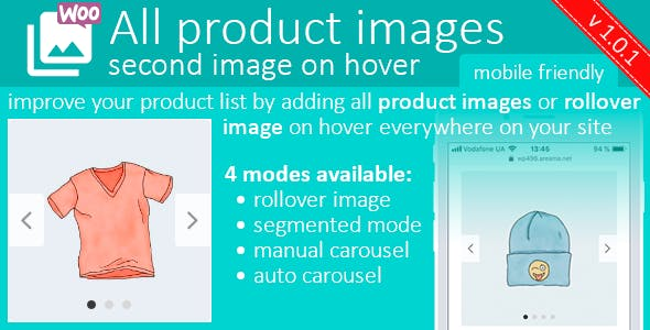 All product images or second image (rollover) on hover