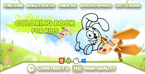 Coloring Book for Kids - HTML5 Game - CodeCanyon Item for Sale