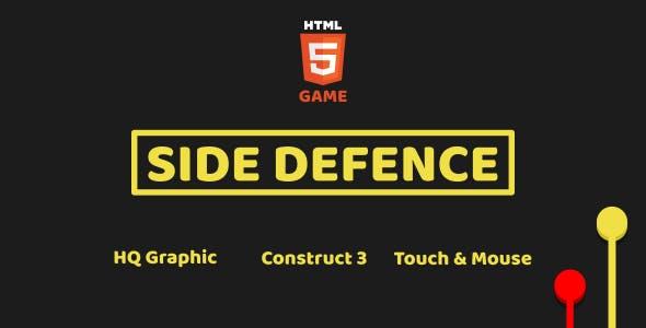 Side Defence - HTML5 Game (Construct3)