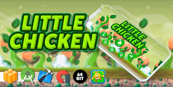 Little Chicken Android iOS Buildbox Game Template with AdMob Interstitial Ads