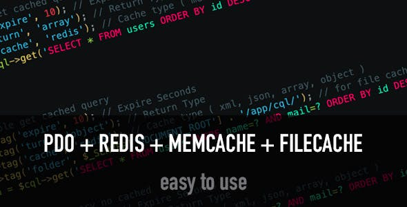 cQL - Best SQL Query Class ( pdo - redis - memcache - filecache )