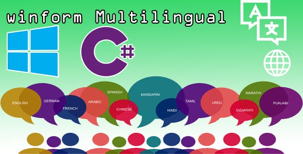Win Form Multilanguage C# .Net