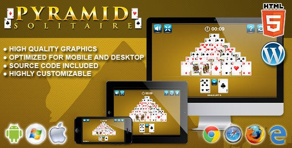 Pyramid Solitaire - HTML5 Solitaire Game