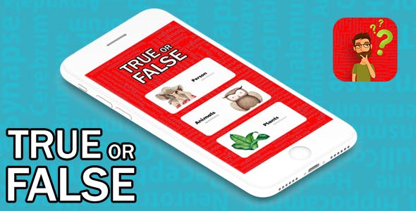 TRUE OR FALSE QUESTIONS WITH ADMOB - IOS XCODE FILE