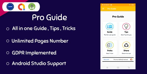 All In One ProGuide - Guide - Tips - Tricks ( Admob - GDPR - Android Studio )