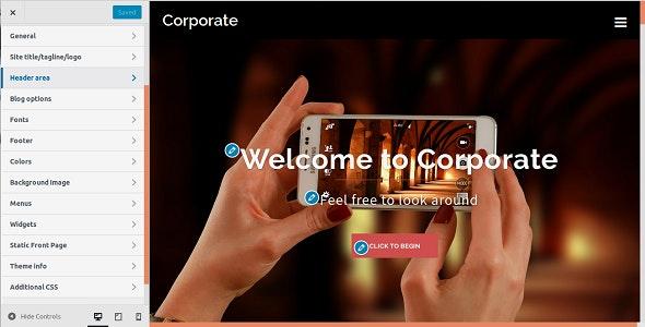 Corporate WordPress Admin Theme - CodeCanyon Item for Sale