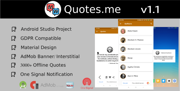 Quotes.me Offline Quotes app with GDPR - CodeCanyon Item for Sale