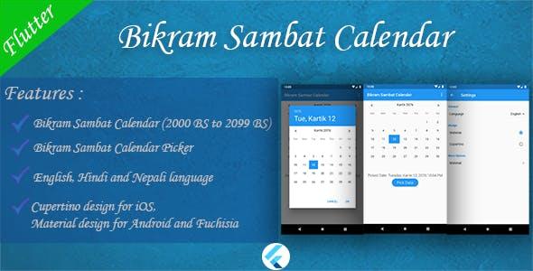 Bikram Sambat Calendar - Flutter