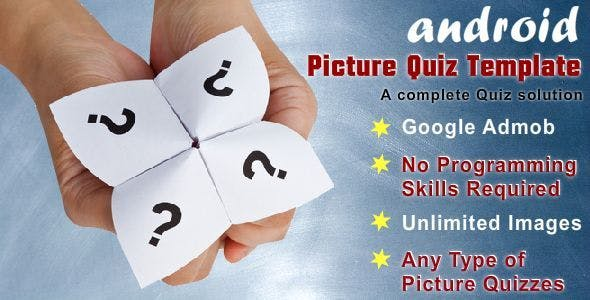 Picture Quiz Template With Google Admob