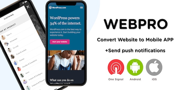 WEBPRO | Universal WebView Configurable React Native Mobile Application - CodeCanyon Item for Sale