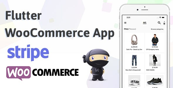 Flutter WooCommerce App Label StoreMax For IOS and Android Stripe