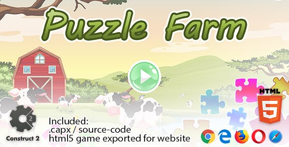 Puzzle Farm - Construct 2 Source Code and HTML5 Files for your Site