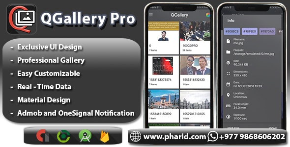 QGallery Pro - Modern Gallery App | Material Design, ONESIGNAl and Admob Ads - CodeCanyon Item for Sale