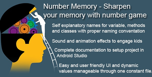 Number Memory - Sharpen your memory with number game - CodeCanyon Item for Sale