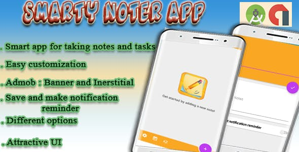 Smarty Notes App - Colorful ToDo List with Reminder Notification - Android App With Admob