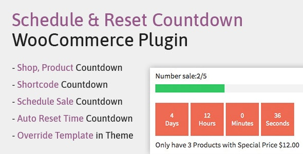 Schedule, Reset Countdown Plugin WooCommerce | WooCP - CodeCanyon Item for Sale