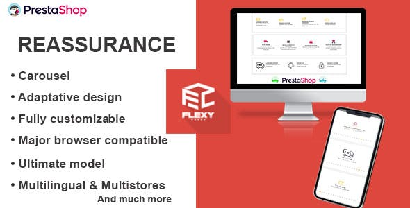 Flexy customer reassurance for PrestaShop