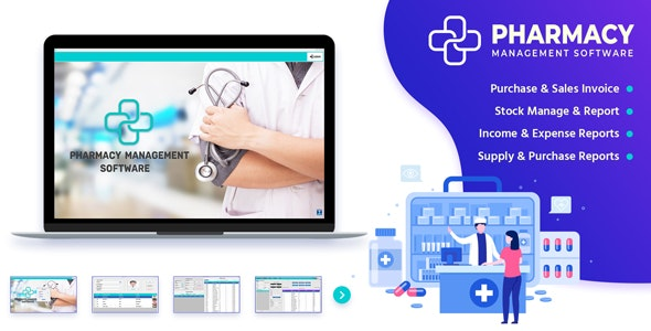 PharmaSale - Pharmacy Management Desktop Software with Full Source Code - CodeCanyon Item for Sale