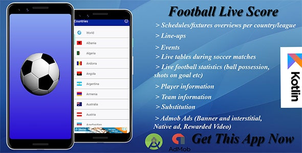 Football Live Score - CodeCanyon Item for Sale