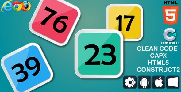 Math Up Down - HTML5 Game (capx)
